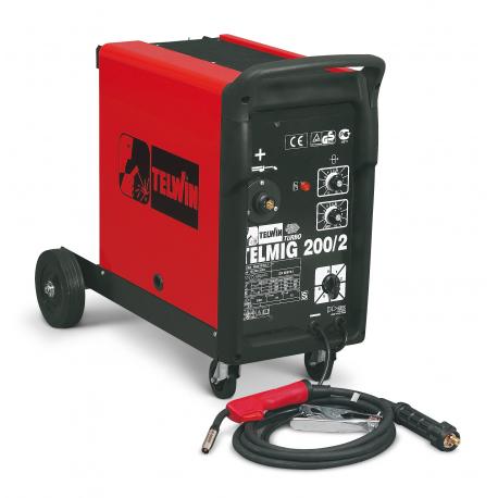 Telmig 200/2 Turbo - Aparat de sudura MIG/MAG, 220 A, 45 kg, cu accesorii Telwin