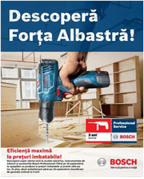 Promotia BOSCH Forta Albastra
