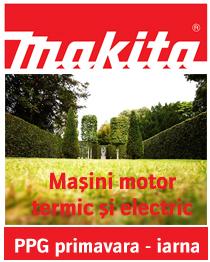 Promotia Makita PPG masini cu motor electric si termic