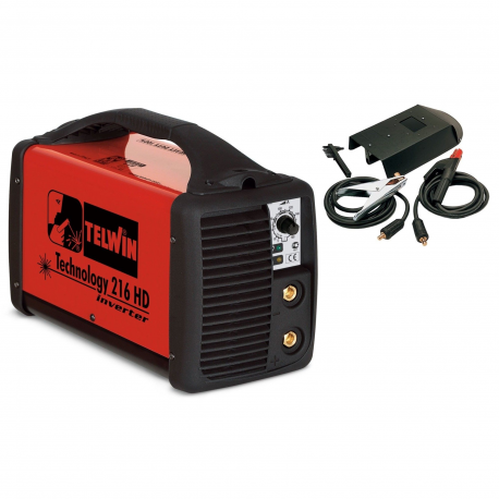 TECHNOLOGY 216HD - Aparat sudura de tip invertor, 160 A, 1.6-4.0mm, 4.7kg, accesorii incluse, Telwin