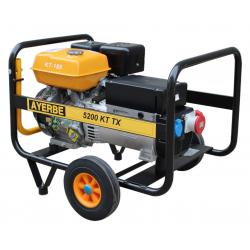 Generator electric portabil trifazat, 5.5 KVA, 3000 rpm, motor Kiotsu, Ayerbe - AY5200 KT TX