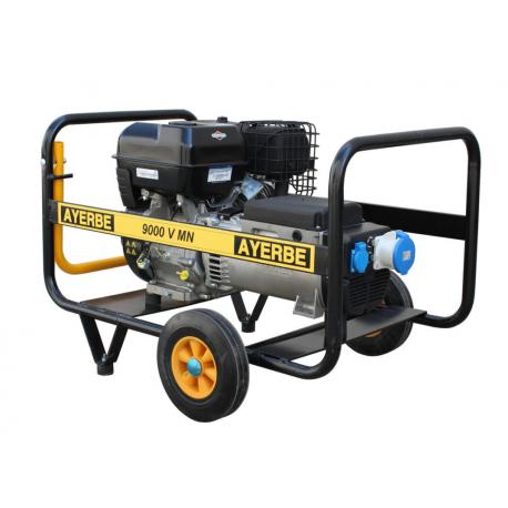Generator electric portabil monofazat AY9000 V MN E, 9 KVA, 3.000 rpm, motor Vanguard, Ayerbe