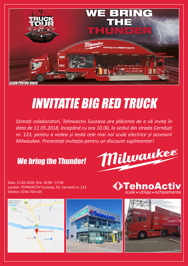 Milwaukee Big - Red Truck. We bring the Thunder!